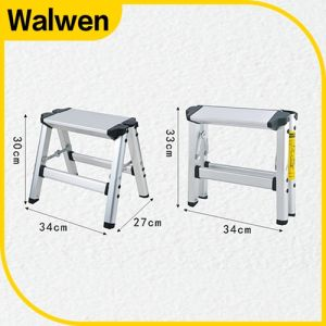 Household Double Foldable Aluminum Step Ladder pictures & photos