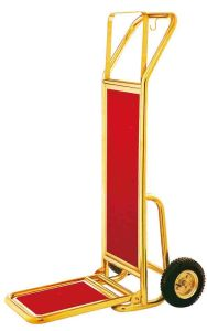 Hotel Gold Foldable Luggage Cart pictures & photos