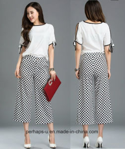 New Design Ladies Palozzo Pants with DOT Printing Pattern pictures & photos