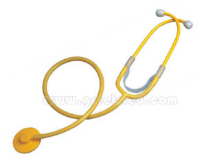 Medical Disposable Single Head Stethoscope pictures & photos