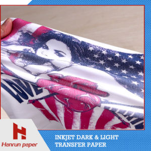 A3/A4 Sheet Size Inkjet PU Film Light T Shirt Heat Transfer Paper for Cotton T-Shirt and Fabric pictures & photos