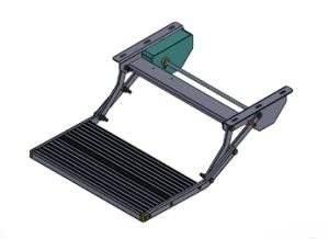 Alunimum Manual Folding Step Can Load 200kg for Track pictures & photos