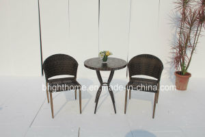 Man-Made Fibre Wicker Chair and Table with Stone Top/Garden Furniture/Outdoor Leisure Furniture (BP-263) pictures & photos