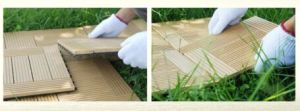 Anti UV Wood Plastic Composite Decking Co-Extrusion WPC Decking 140X25mm pictures & photos