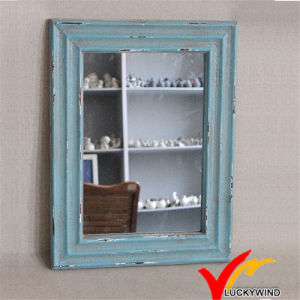 Shabby Chic Blue Small Decorative Framed Wooden Wall Mirrors pictures & photos