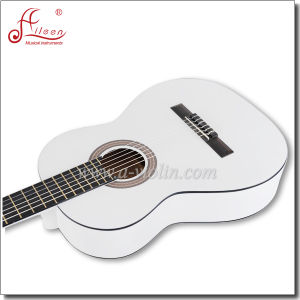 "[Winzz] 39"" Linden Plywood Handmade Classical Guitar pictures & photos"
