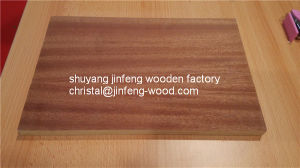 SGS First Class Quality 4*8 Size Natural Sapeli Veneer MDF pictures & photos