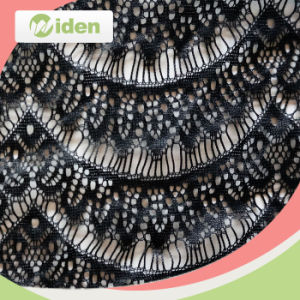 Make-to-Order Super Quality African Black Eyelash Lace Fabric pictures & photos