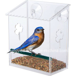 Clear Acrylic Window Bird Feeder with All Weather Suction Cup pictures & photos