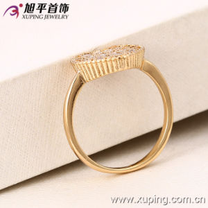 Hot Sale Xuping Fashion Women 18k Gold-Plated Imitation Jewelry Romantic Crystal Ring in Copper Alloy -12968 pictures & photos