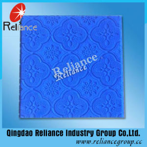 3mm, 3.5mm Blue Flora Pattern Glass/Tinted Pattern Glass/Tinted Figured Glass pictures & photos