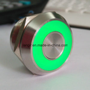 25mm Stainless Steel 316L Chamfer Head Latching Bi- Colour Light 25mm Piezo Capacitive Switch pictures & photos