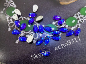 Loose Drop Sew on Flat Back Glass Stones (DZ-3065) pictures & photos