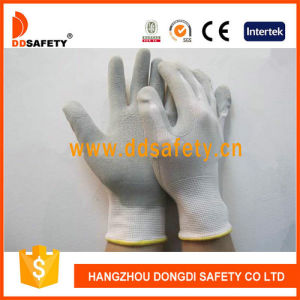Ddsafety 2017 Grey Latex Glove Nylon Gloves with Low Price pictures & photos
