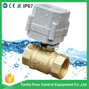 1′′ 2 Way Brass Motorized Water Ball Valve Approved Ce, RoHS pictures & photos