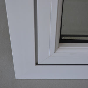 High Quality White Colour Thermal Break Aluminum Profile Casement Window with Multi Lock K03022 pictures & photos
