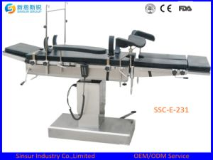 C-Arm Compatible Radiolucent Hospital OT Medical Electric Operating Room Table pictures & photos