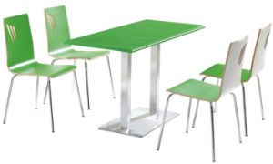 Hot Sale Restaurant Table and Chair Canteen Table and Chair Furniture pictures & photos