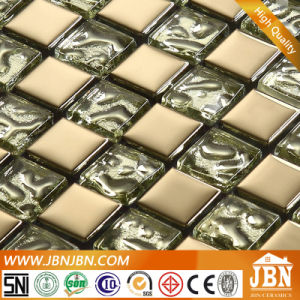 Golden and Silver Plated Glass Mosaic for Living Room (G623002) pictures & photos