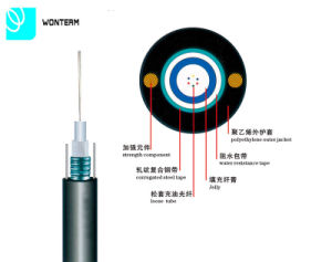 Outdoor Aerial 8/12/24 Core GYXTW Fiber Optic Cable Central Tube Cable pictures & photos