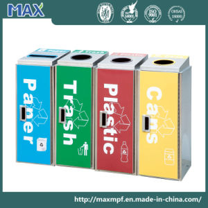 Logo Printing 4 Compartments Round Garbage Bin pictures & photos