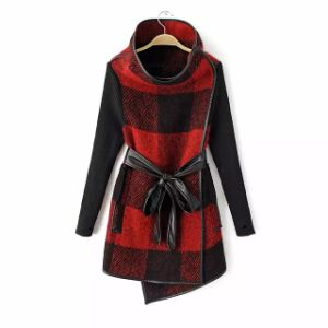 OEM Clothing 2015 European Style Winter Women Woolen Coat pictures & photos