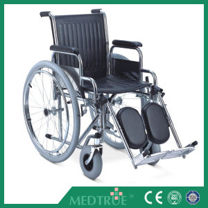 CE/ISO Approved Hot Sale Cheap Medical Steel Wheel Chair (MT05030002) pictures & photos