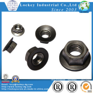 High Strength Steel Class 8 Hex Flange Nut Plain pictures & photos