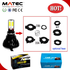Top Quality H6 H4 H7 2400lm COB LED Headlight Motorcycle pictures & photos