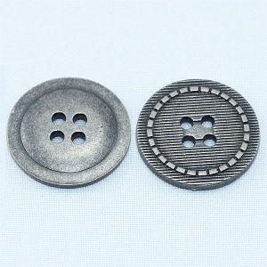 4 Holes Flat Zinc Alloy Metal Jeans Button pictures & photos