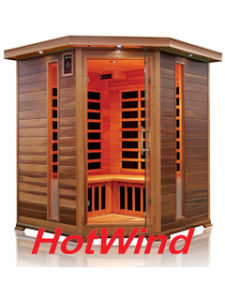 Corner Red Cedar Far Infrared Sauna Room with Carbon Fiber Heaters; Dry Sauna pictures & photos