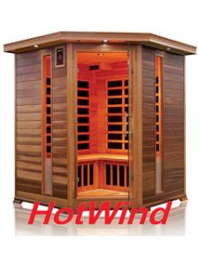 Corner Red Cedar Far Infrared Sauna Room with Carbon Fiber Heaters; Dry Sauna pictures & photos