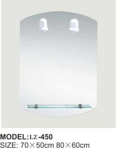 High Quality Irregular Make up Bathroom Mirror with Shelf (LZ-450) pictures & photos