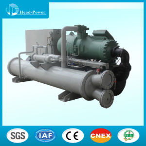 Marine Seawater Cooled Screw Water Chiller Coated with Anti-Corrosion Navy Paint pictures & photos
