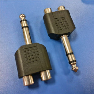 6.3 Stereo Male to 2RCA Female a/V Connector (A-025) pictures & photos