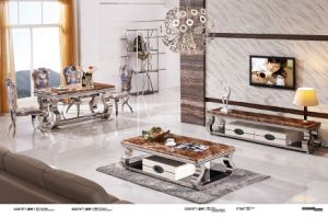 Top Marble Coffee Table with Drawer pictures & photos