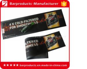 Black Rubber Bar Spill Mat with Custom Design