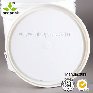 White Round Injection Moulding 2.5L Plastic Pail for Milk pictures & photos