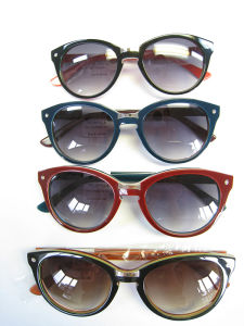 Classical Fashion Polarized Keyhole Special Acetate Sunglasses pictures & photos