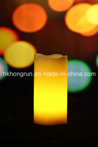 Real Wax Candle in Melt, Even, Dripping, Square Shape (HR33)