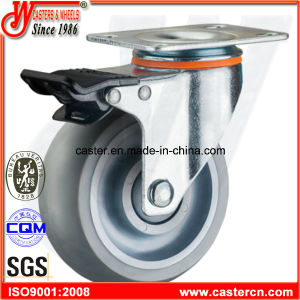 Swivel Caster with Gray Super Synthetic TPR Wheel pictures & photos