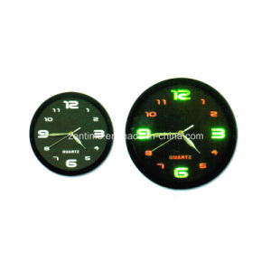 Round Decorative Quartz Analog Clock with LED Hour Marker pictures & photos