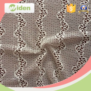 New Arrival Embroidery Milky Poly Chemical Heavy Lace Fabric pictures & photos