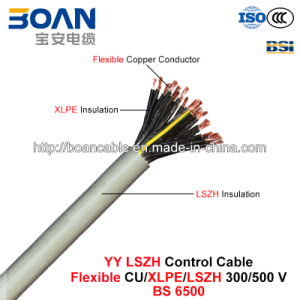 Yy LSZH Control Cable, 300/500 V, Low Smoke Zero Halogen Flexible Cu/XLPE/LSZH (BS 6500) pictures & photos
