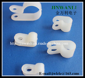 Plastic Fastener Nylon R Type Cable Clamp (94V-2) pictures & photos