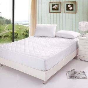 Microfiber Filled Watherproof Cotton Mattress Protector with Skirt pictures & photos