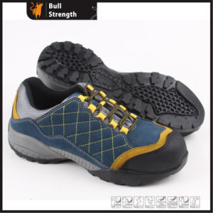 EVA and Rubber Outsole Suede Leather Safety Shoe (SN5319) pictures & photos
