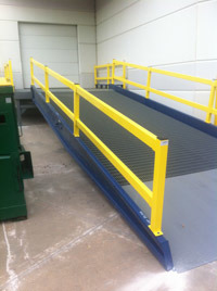 Stations/ Warehouses /Used Hydraulic Mobile Container Truck Loading Ramp pictures & photos