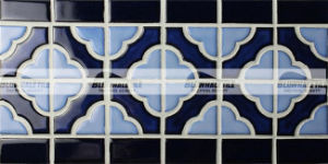 300X150mm Cobalt Blue Mix Ceramic Border Mosaic Tile (BCZB005)