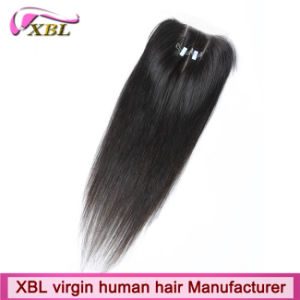 Knots Bleached Brazilian Human Hair Virgin Lace Closure pictures & photos